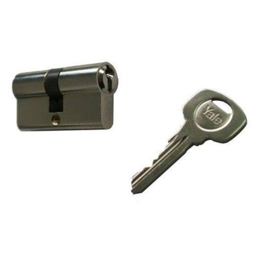 Biztonsági henger, nikkelezett, 30 x 30 mm