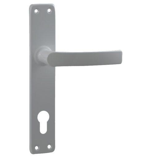 Beltéri/kültéri ajtókilincs,  alumínium, fehér,  90 mm