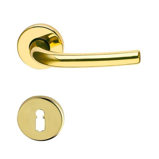 Beta Verofer beltéri ajtó kilincs, csiszolt sárgaréz, 50 mm