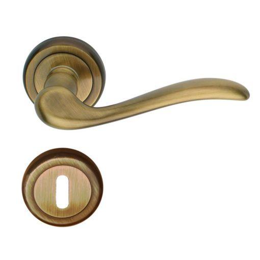 Tolosa Verofer beltéri ajtó kilincs, sárgaréz, grafit bronz, 50 mm