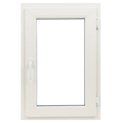 Műanyag ablak, fehér, 5 kamrás, 56x86 cm, nyíló