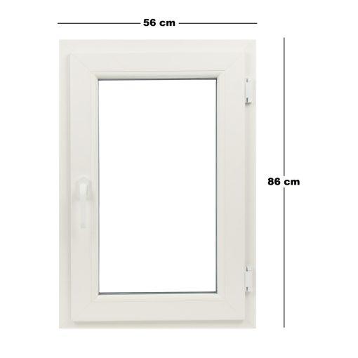 Műanyag ablak fehér 56x86cm 5 kamrás Bukó/Nyíló