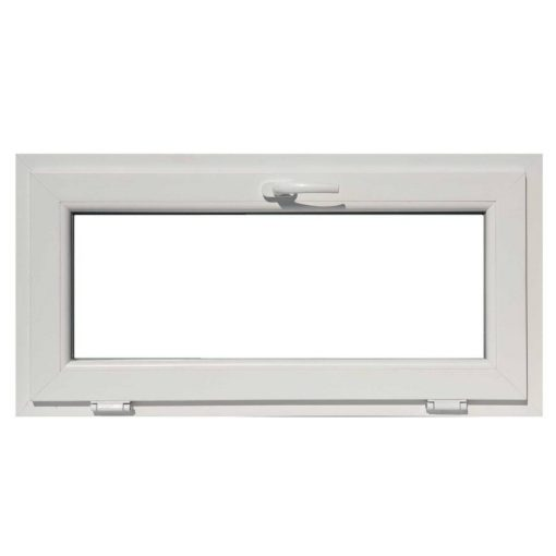 Műanyag ablak, 3 kamrás, fehér, 86 x 50 cm, bukó