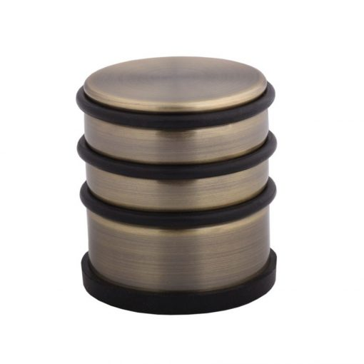 Ajtó ütköző,  ötvözött acél + gumi, antik bronz, 70 mm