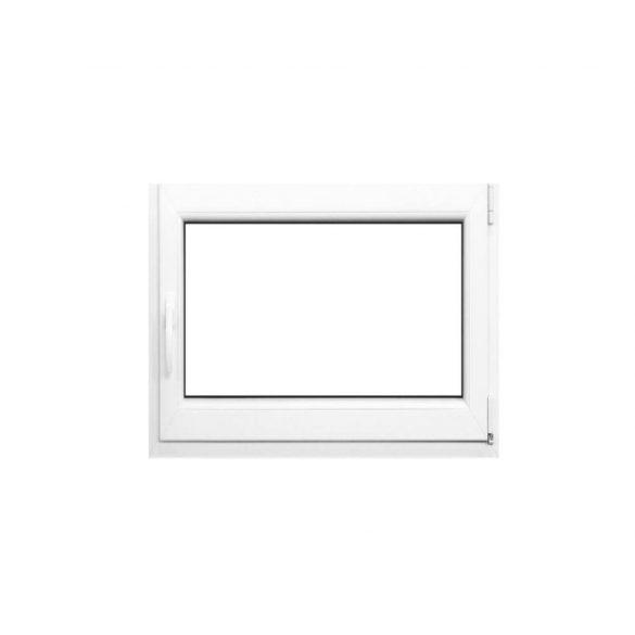 Műanyag ablak fehér 86x56cm 6 kamrás Nyíló