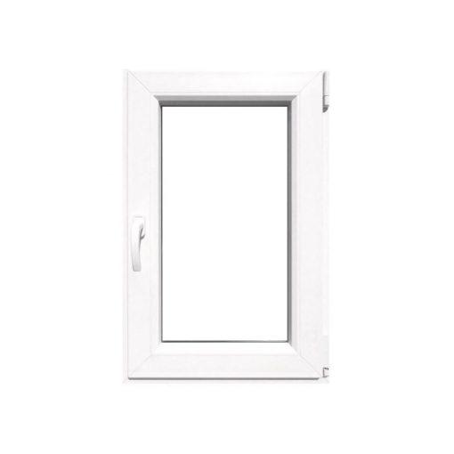 Műanyag ablak fehér 86x116cm 6 kamrás Nyíló
