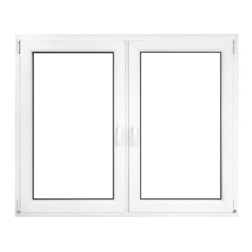 Műanyag ablak fehér 116x116cm 6 kamrás Nyíló+Nyíló