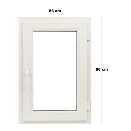 Műanyag ablak fehér 56x86cm 7 kamrás Bukó/Nyíló
