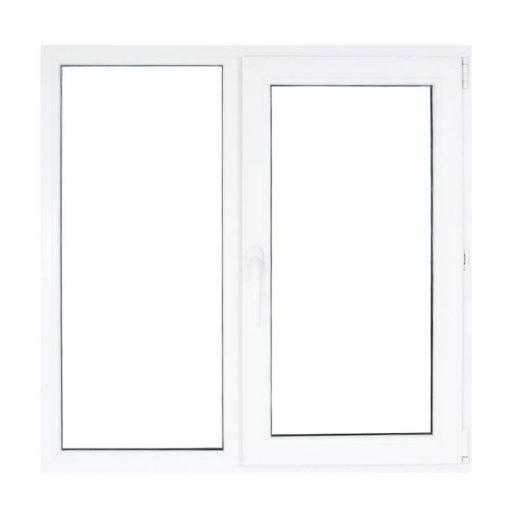 Műanyag ablak fehér 146x114cm 7 kamrás Fix+Nyíló