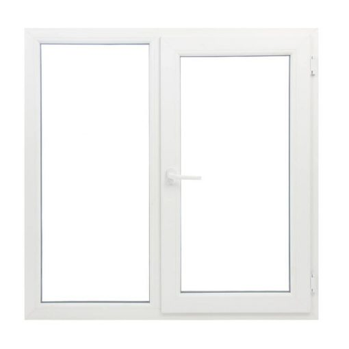 Műanyag ablak fehér 146x114cm 7 kamrás Fix+Bukó/Nyíló