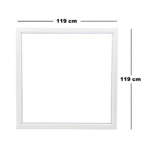 Műanyag ablak fehér 119x119cm 7 kamrás Fix