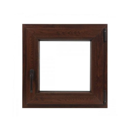 Műanyag ablak barna 56x56cm 7 kamrás Bukó/Nyíló