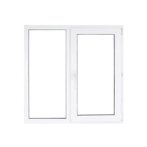 Műanyag ablak fehér 116x116cm 3 kamrás Fix+Nyíló