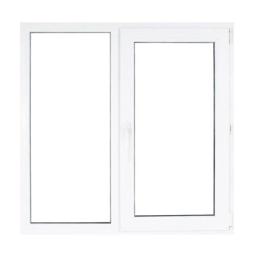 Műanyag ablak fehér 116x106cm 7 kamrás Fix+Nyíló