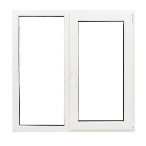Műanyag ablak fehér 116x116cm 5 kamrás Fix+Nyíló