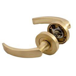 Rozetta ajtókilincs, arany, 130 x 50 mm