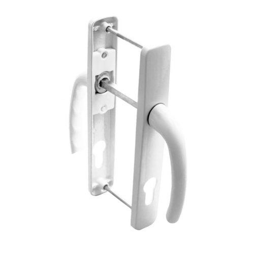 Külső ajtókilincs rugóval, fehér, 85 mm, 230 x 25 mm