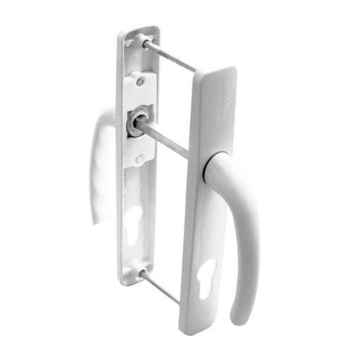 Külső ajtókilincs rugóval,  fehér, 85 mm, 230 x 35 mm