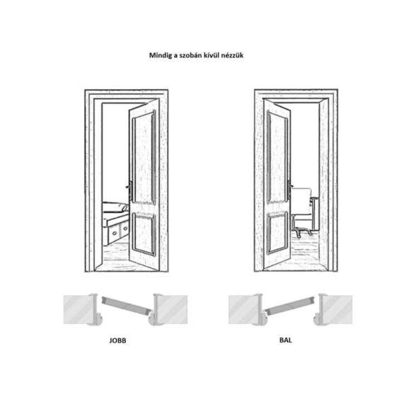Beltéri ajtó, 202x66 cm, szürke, jobbos, Elena I