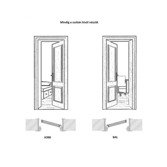 Beltéri ajtó Dorina II 202x86cm Bal