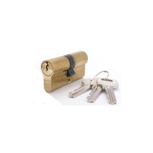 Hengerzárbetét ELZETT IXA 30/30mm rezezett 3 kulcsos